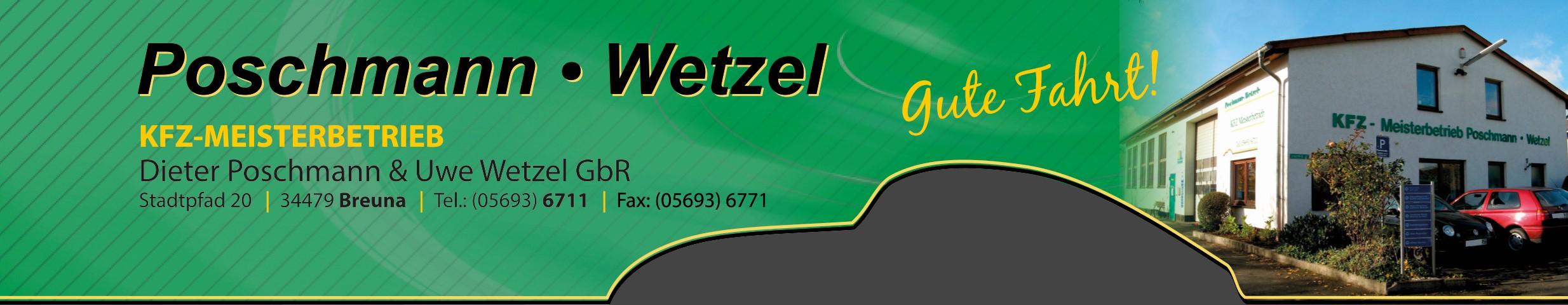 Poschmann und Wetzel – KFZ Meisterbetrieb in Breuna